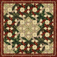 Patchwork patroon: Tangled Star Variation