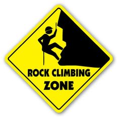 ROCK CLIMBING ZONE Sign xing gift novelty clips ropes supplies gear clothes *** You can get more details by clicking on the image.