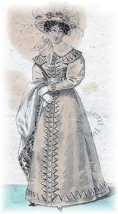 Fashion for woman, 1825