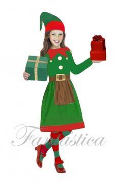 disfraces de Navidad para niñas, disfraces navideños para niñas, disfraz de Papá Noel, Navidad - Tienda Esfantastica