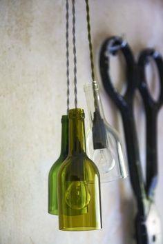 Wine bottle lights from http://www.baileyshomeandgarden.com/index.php/