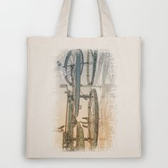 Rusty Blues Tote Bag by Fiona & Paul Photography and Digital Art - $18.00