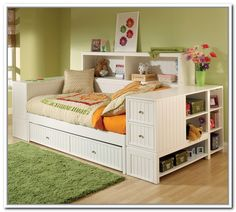 Full size daybed with storage drawers foter decorating ideas pinterest full size daybed - What you need to know about trundle beds ...
