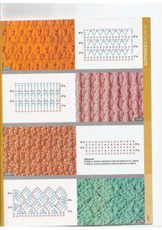 Aprenda como desvendar os mistérios dos pontos difíceis do crochê. Mais de 250 pontos com moldes para você utilizar em seus projetos e trabalhos...