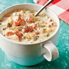 A healthy version of the classic. No-cream Clam Chowder