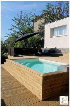 Oberirdischer Pool, Swiming Pool, Small Swimming Pools, Small Backyard Pools, Small Pools, Swimming Pools Backyard, Swimming Pool Designs, Pool Landscaping, Pool Garden