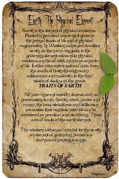 Earth the physical element