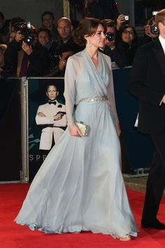 "Catherine, Duchess of Cambridge dazzled the crowds while walking the red carpet with Prince William, Duke of Cambridge at the Royal Albert Hall in London. It was for the premiere of the newest James Bond movie, ""Spectre"", starring Daniel Craig. ~ October 26, 2015"