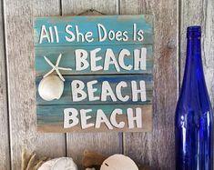 Items similar to Beach Pallet Art - Wooden Beach Fixes Everything Sign, Beach Decor, Wood Beach Art, Upcycled Beach Art Sign, Beach Wooden Wall Decor on Etsy Seaside Decor, Beach House Decor, Coastal Decor, Beach House Signs, Beach Wall Decor, Pallet Wall Decor, Pallet Art, Pallet Wood, Beach Signs Wooden