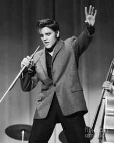 Elvis performing in 1956