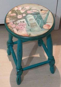 57 Pieces Wooden Chair Painting Samples – Home Chair Painting - Diy Möbel Funky Painted Furniture, Recycled Furniture, Refurbished Furniture, Furniture Makeover, Painted Stools, Funky Chairs, Bar Stool Chairs, Shabby Chic Homes, Home Decor