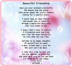 Lovely friend poems