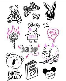 Dream Tattoos, Mini Tattoos, Body Art Tattoos, Trippy Drawings, Graffiti Drawing, Aesthetic Tattoo, Aesthetic Drawing, Hippie Wallpaper, Unique Tattoos