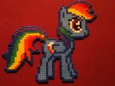 Rainbow dash perler beads by ~ChoccyMilkshake on deviantART