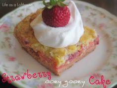 Strawberry Ooey Gooey Cake
