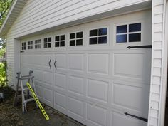 faux carriage doors on garage