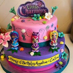The Little Charmers Birthday Cake Girls Birthday Party Themes, 10th Birthday Parties, Little Girl Birthday, Birthday Fun, Birthday Ideas, Little Charmers, Cupcake Birthday Cake, Halloween Birthday, Childrens Party