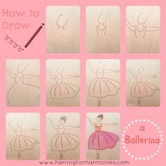 How to Draw a Ballerina | Harrington Harmonies