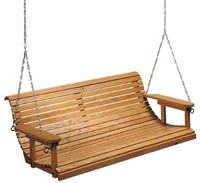 These porch swing plans will allow the average woodworker to build a porch swing that is strong, attractive and functional.   Be sure to consult with someone who knows construction prior to attaching this swing. Good luck with this great spring-time project.