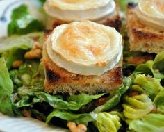 The French goats cheese salad is fresh and vibrant, but with big flavors.