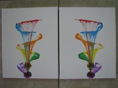 Making Mirror Images: Thread Painting for Kids Part - 1 Canvas Painting Tutorials, Acrylic Painting Techniques, Diy Canvas Art, Mirror Painting, Image Painting, Thread Art, Thread Painting, String Art Tutorials, Acrylic Pouring Art