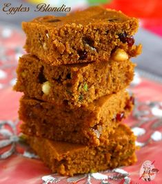 Blondies studded with white chocolate, dried cranberries, walnuts is sure to become a hit. Be prepared to bake this over and over again because your family is not going to stop asking for more!