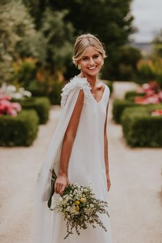 """Oriental Flower"" - Vietnamese impressed bridal robe assortment by Lorena Merino - Wedding Robe, Boho Wedding, Wedding Gowns, Dream Wedding, Wedding Dresses With Cape, Hair Wedding, Wedding Bouquet, Bridal Dresses, Flower Girl Dresses"
