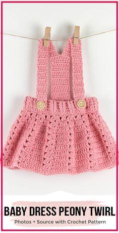 Crochet baby dress peony twirl pattern via . Crochet baby dress peony twirl pattern via S … https: //knitt Crochet Baby Dress Free Pattern, Crochet Baby Cardigan, Knit Baby Dress, Baby Dress Patterns, Baby Clothes Patterns, Clothing Patterns, Skirt Patterns, Coat Patterns, Blouse Patterns