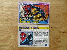 1991 impel #marvel #universe ii spider-man vs venom card #signed joe sinnott, poa,  View more on the LINK: 	http://www.zeppy.io/product/gb/2/371813186515/
