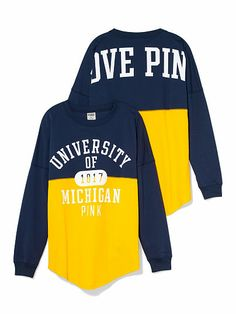 University of Michigan Colorblock Varsity Crew