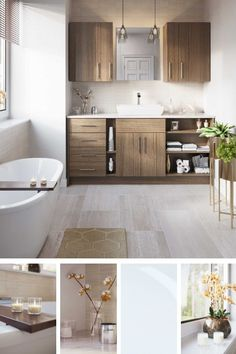 Retreat to a space that appeals to all your senses. Create your spa bathroom by including traces of nature and elegant decor to match. Modern Bathrooms Interior, Modern Bathroom Decor, Boho Bathroom, Bathroom Design Small, Bathroom Interior Design, Master Bathroom, Bathroom Plants, Bathroom Ideas, Bathroom Organization