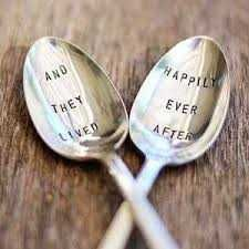 both vintage silver plated spoons are hand stamped perfect wedding