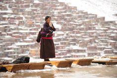A Tibetan who has made a pilgrimage to Seda Monastery, on <span>April 5, 2013</span>.