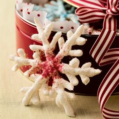 Meringue Snowflakes : Christmas Recipes | Spoonful