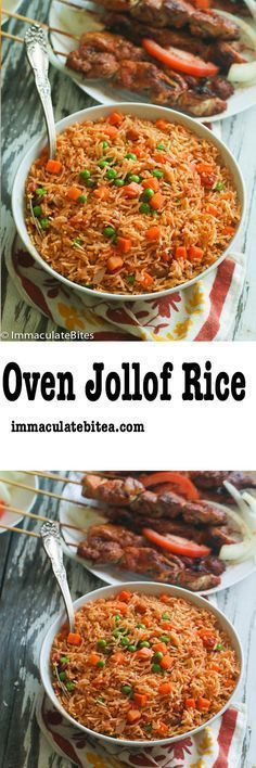 easy flavorful and perfectly cooked jollof rice made completely in the in the oven 5 min prep no blending or stirring involve