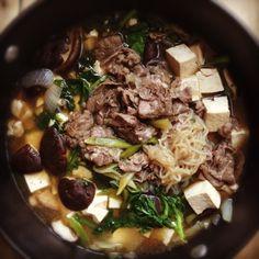 During fall/winter season it great to get a fix of Japanese Sukiyaki. #japanese #soup