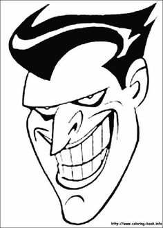 batman coloring pages joker. Who doesn't know Batman? Maybe all Dc fans and superhero movie fans must have heard at least this Batman figure. Batman is one of the most famous supe. Coloring Pages For Boys, Cartoon Coloring Pages, Free Printable Coloring Pages, Coloring Books, Joker Cartoon, Cartoon Faces, Batman Batarang, Joker Face, Batman Logo