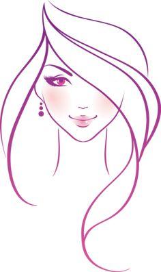 dessin de visage de femme facile - Recherche Google