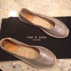 Rag and Bone Flats Italian leather or cotton upper/leather and textile or leather lining/leather and jute or synthetic sole. By rag & bone; made in Spain. rag & bone Shoes Espadrilles