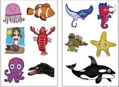 Premium Ocean Animal (Under The Sea) Tattoos: Killer Whale, Mermaid, Fish