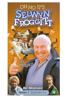 """Selwyn Froggitt was played by Bill Maynard in """"Oh No, It's Selwyn Froggitt"""" - a rather inept bloke who just couldn't get anyth. 1970s Childhood, My Childhood Memories, British Comedy, British Sitcoms, Classic Comedies, Vintage Television, Comedy Tv, Television Program, Old Tv Shows"""