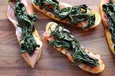 Bruschetta with Prosciutto and Tuscan Kale.