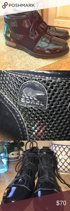 Brand new Sorel boots! Black with perforated sides, never worn!! Sorel Shoes