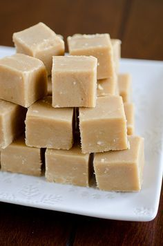 4 ingrediant Easy Peanut Butter Fudge  1 cup unsalted butter   1 cup peanut butter   1 teaspoon vanilla extract   2 cups confectioners sugar  pour into 8x8 greased pan