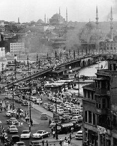 Karaköy - Galata Köprüsü, İstanbul, 1954