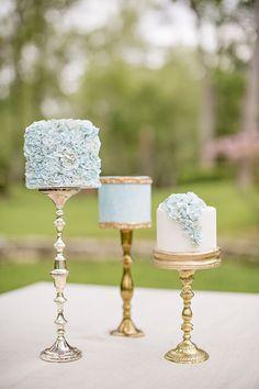 2015 Wedding Trends - Coco Wedding Venues and Katrina Otter Weddings & Events. Naked Wedding Cake, Mini Wedding Cakes, Mini Cakes, Cupcake Cakes, Cupcakes, Tea Cakes, Mod Wedding, Blue Wedding, Wedding Colors