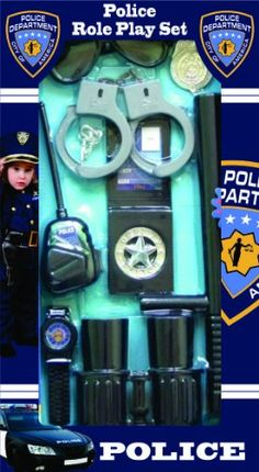 Police Officer Role Play Kit - Overstock™ Shopping - Big Discounts on Dress Up America Dress Up Kids Toys For Boys, Kits For Kids, Swat Costume Kids, Police Costumes, Cop Costume, Arma Nerf, Kids Police, Nerf Toys, Cops And Robbers