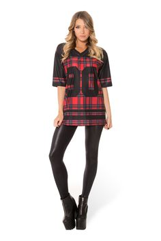 Tartan Red Touchdown (WW $110AUD / US $105USD) by Black Milk Clothing