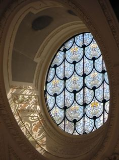 "un-monde-de-papier: "" Un vitrail du Petit Palais… – a-world-of-paper: ""A stained glass window of the Petit Palais … –"