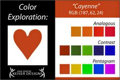 Eva Maria Keiser Designs: Explore Color:  Cayenne~~~~~~~~~~~~Definitely NOT MY COLOR !!!